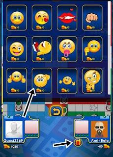 Emoji send karne ke liye gift par click kar emoji par click kare