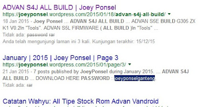 Password ADVAN S4J ALL BUILD in ONE PACKAGE by JoeyPonsel?