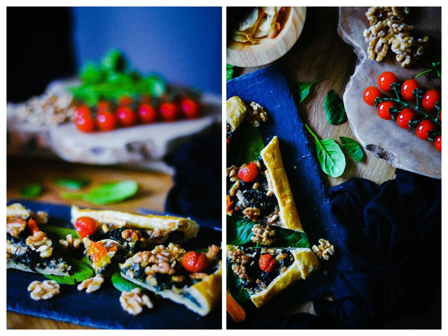 Galette de espinacas, queso de cabra y nueces - TuvesyyoHago