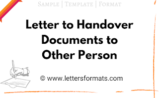 letter to handover the document to another person