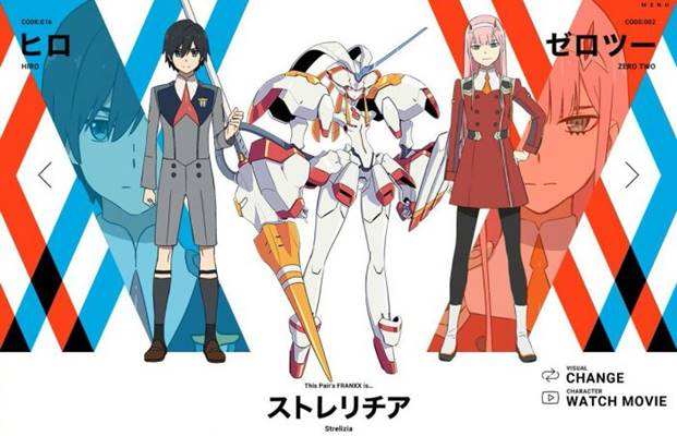 review darling in the franxx