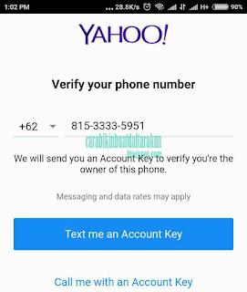 Contoh Bagaimana Cara Membuat Email Baru Di Yahoo Lewat HP Android