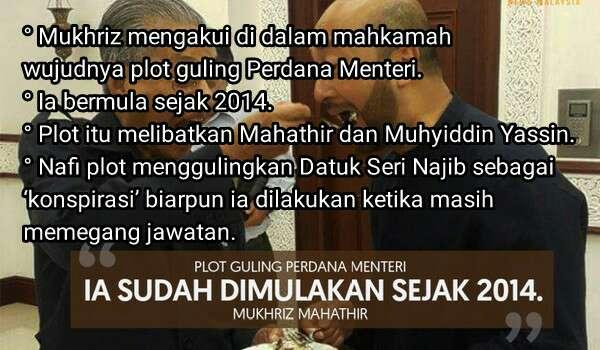 Mukhriz Mengaku Di Mahkamah Ada Plot Guling Najib Sejak 2014 Tapi Tak Faham Apa Itu 'Konspirasi'