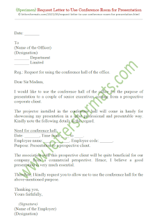 request letter to use conference room