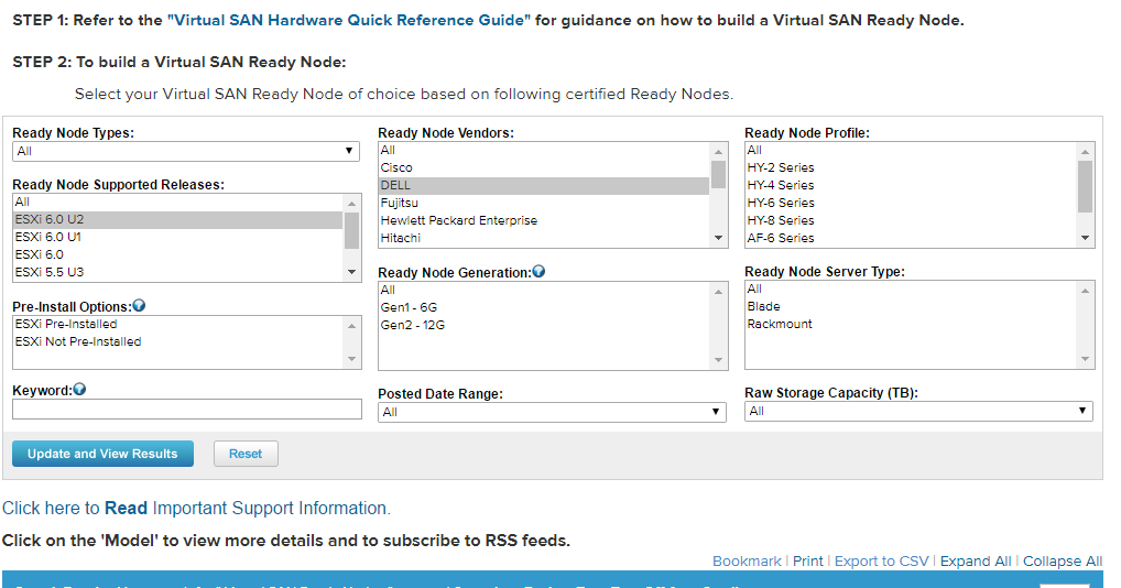 VMware Gotchas: Differences between the normal HCL and the