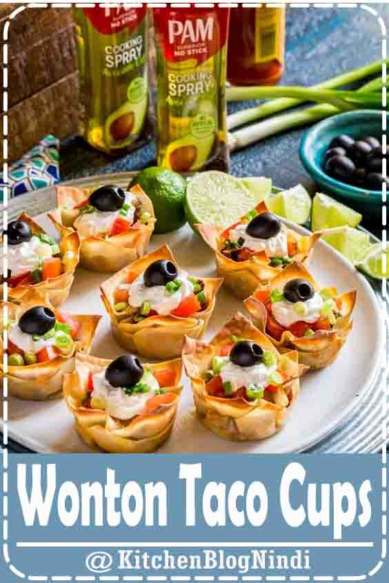 4.9★★★★★ | Delicious wonton taco cups are perfect game day appetizers, as a main course for taco night, and for celebratory occasions like Cinco de Mayo! These oven baked tacos are easy to make. When it comes to Mexican appetizer recipes, this one's a winner!#WontonTacoCups #mexican#food #recipes #appetizers