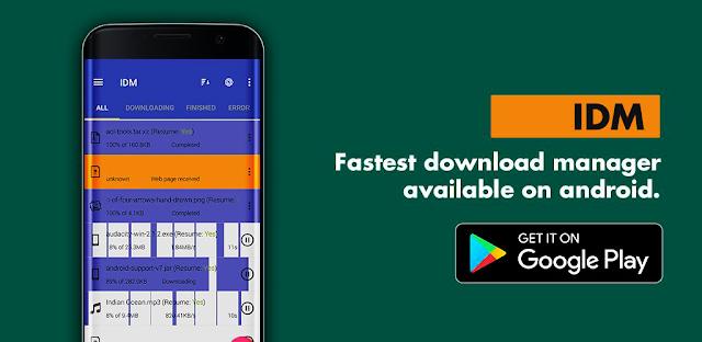 تطبيق IDM PLUS : Fastest download manager لتحميل الملفات بشكل سريع جدا
