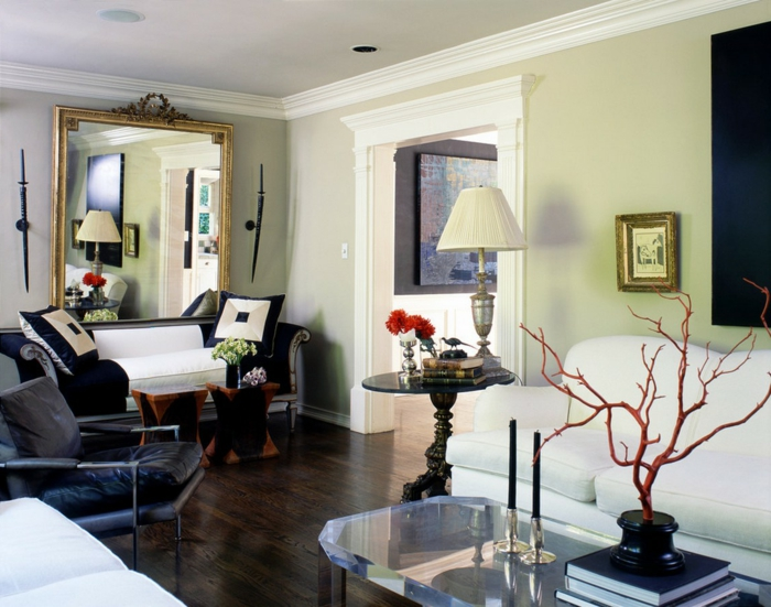 wohnzimmer modern gestalten weie wnde ledersofa. modern wohnzimmer ... - Wohnzimmer Streichen Modern