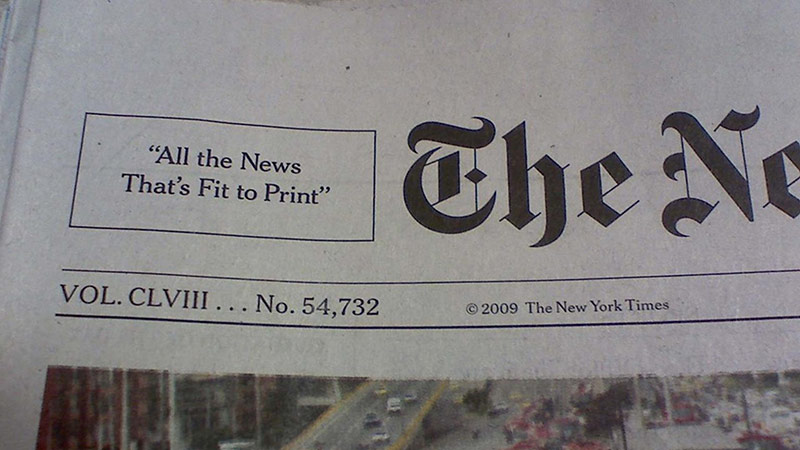 The New York Times – All the news that's fit to print