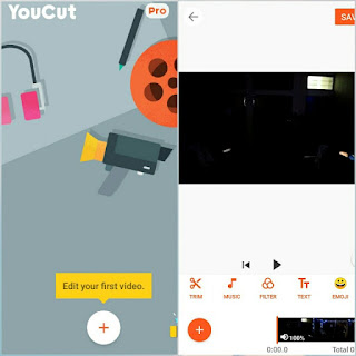 YouCut has the most useful features that other top pro video editor or movie maker app has, but Youcut is free and has no banner ads. YouCut allows you to trim or split a clip. You can also apply a filter and adjust the strength as well as the contrast, warmth, saturation, fade, highlight, shadow, tint, hue, vignette, sharpness and grain. You can add text and change the color and font, you can add emoji, change the speed of the clip, crop the clip and add a colored or blurred background. As it is a free video editor, YouCut will never add Watermark to your video.