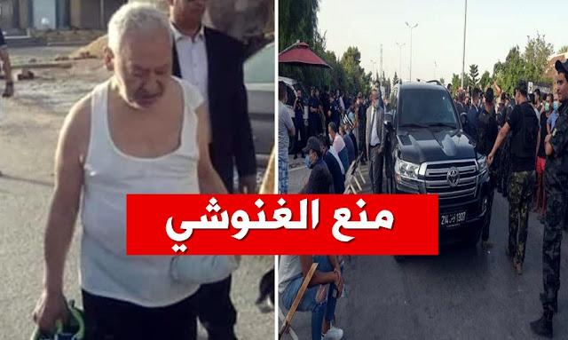 منع راشد الغنوشي من دخول البرلمان  Rached Ghannouchi
