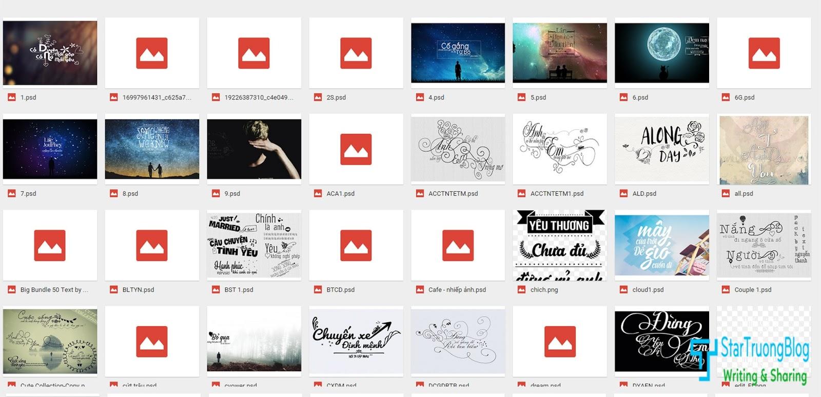 Tổng hợp PSD Typography việt đẹp nhất