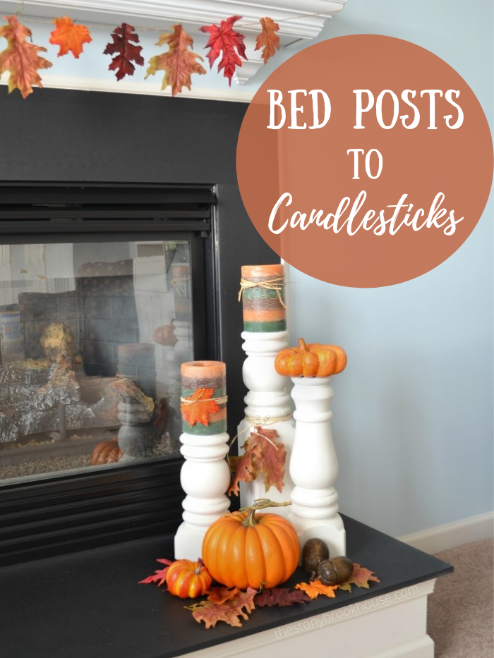 How To Make Candlesticks From Bed Posts