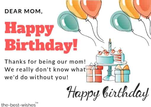 happy birthday card for mom