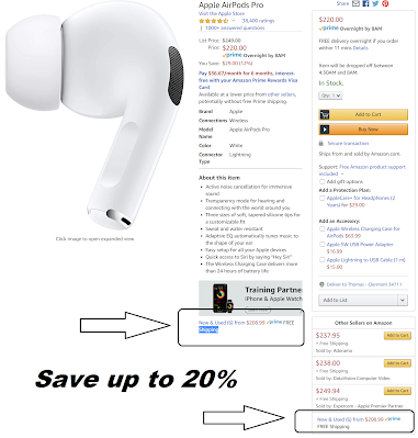 Save up to 20% on Airpods at Amazon