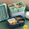 Lunchbox Set 3 Sekat Microwavable 1500 ml Anti Tumpah
