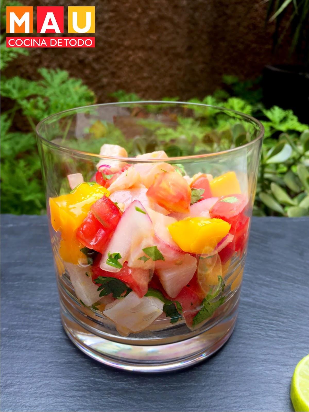 Mau cocina de todo ceviche de pescado con mango for Todo para la cocina