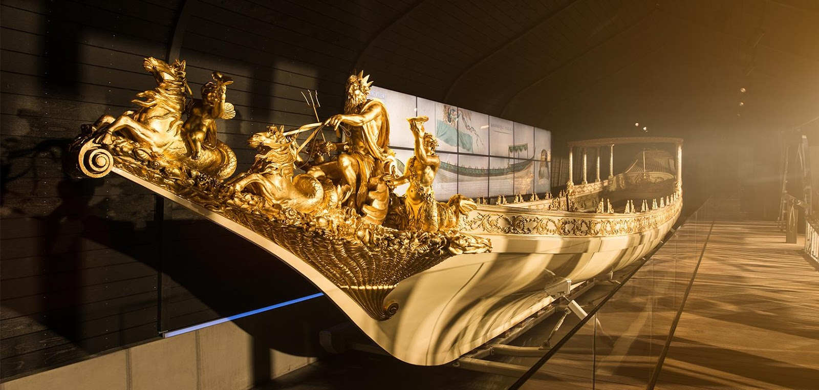 Royal Barge in the Maritime Museum, Amsterdam