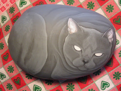 Sassi dipinti lezioni pittura gatti certosini