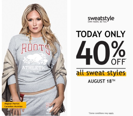 Roots 40% Off All Sweat Styles