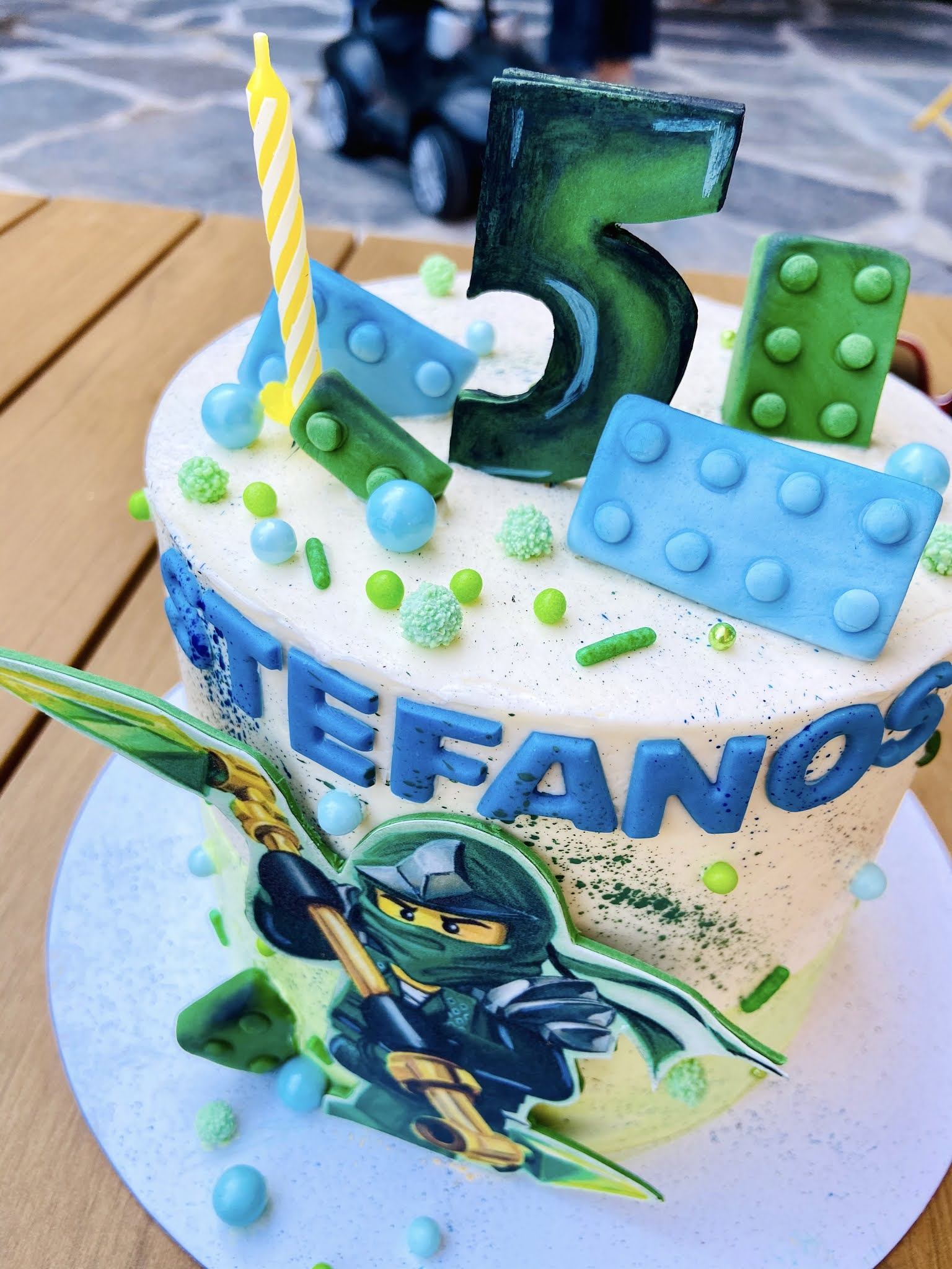 παιδική τούρτα γενεθλίων πάρτυ νίντζα πράσινος ninjago lego birthday cake Lloyd