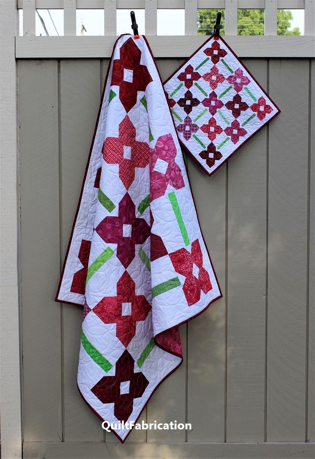 Petunia Patch 1 and Petunia Patch Mini quilts