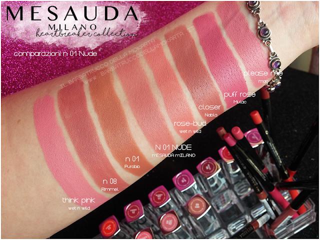 01 Nude comparazioni heartbreaker lipstick rossetto matt , matt lipstick mesauda
