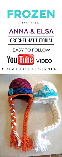Handiy Tutorials Frozen Inspired Crochet Hats