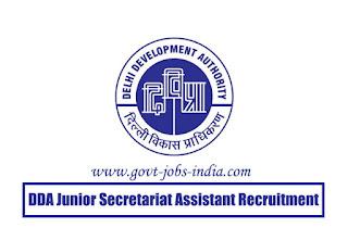 DDA Junior Secretariat Assistant Recruitment 2020