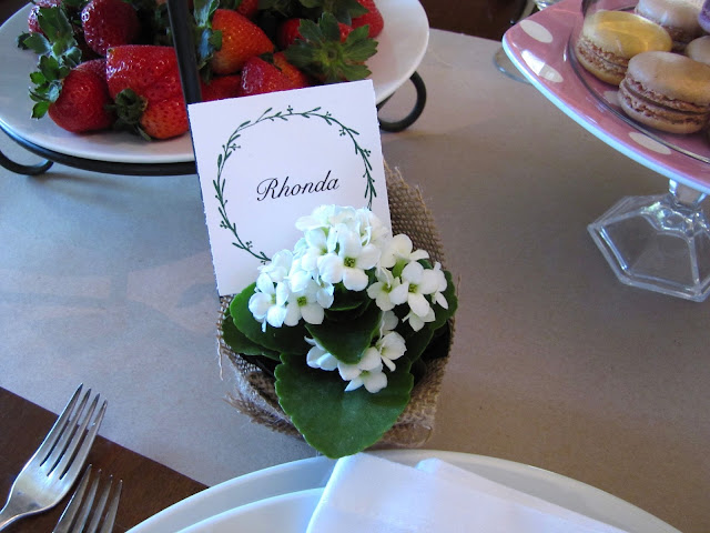 mini flower pot place card holder