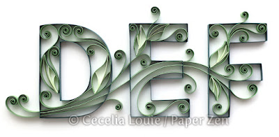 Quilling Letters DEF Tutorial Pattern PDF Book #quilling #typography #tutorial #paper #letters