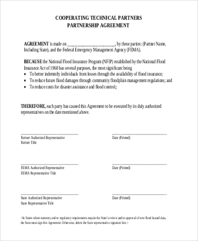 Partnership Agreement Template Forms word format - Excel Template