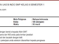 Soal UAS B IND SMP Kelas 8 Semester 1