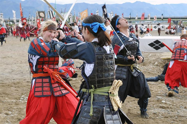 Action Event as Samurai Buttle of Kawanakajima Gassen, Fuefuki City, Yamanashi