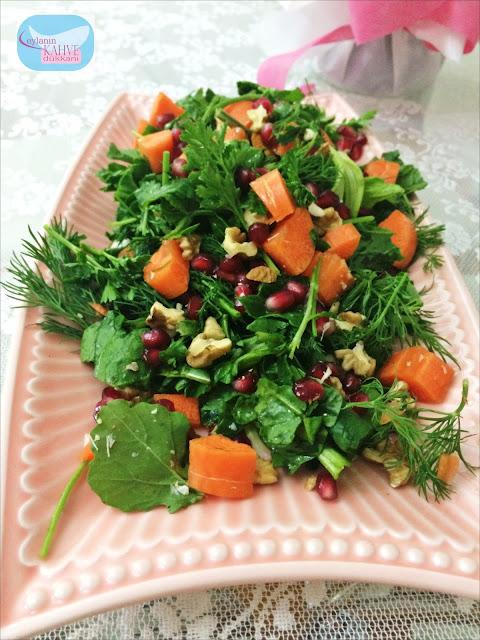 ıspanak salatası tarifi, ıspanak salatası, ot salatası