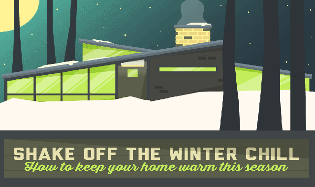 Shake of the Winter Chill: How to Keep Your Home Warm this Season #infographic