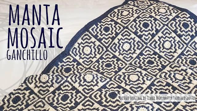 Tutorial Manta Mosaic Eco a Ganchillo Paso a Paso