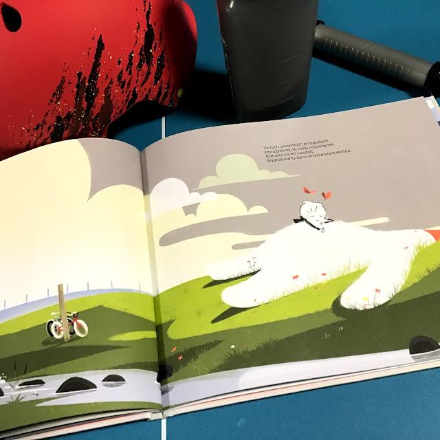 """""""Moje dwa kółka"""" Sebastien Pelon, Tadam, motywacyjna książka obrazkowa dla dzieci z głębszym przesłaniem, nie tylko dla początkujących rowerzystów"""