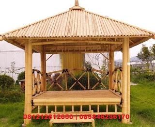 jasa pembuatan gazebo saung bambu murah bagus berkualitas di Jawa Barat