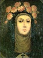 Retrato de Santa Rosa de Lima a color