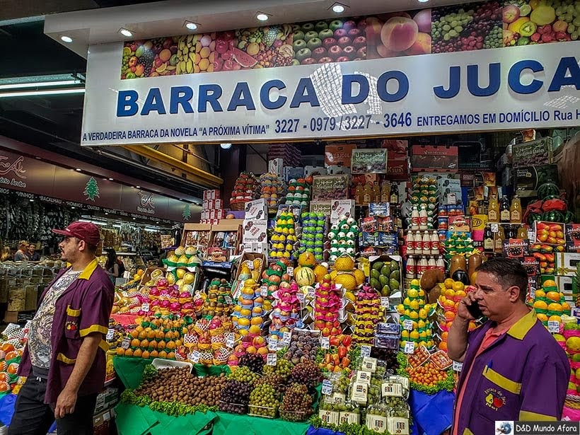 Barraca do Juca onde foi gravada a novela A Próxima Vítima no Mercado Municipal de de São Paulo: o que fazer