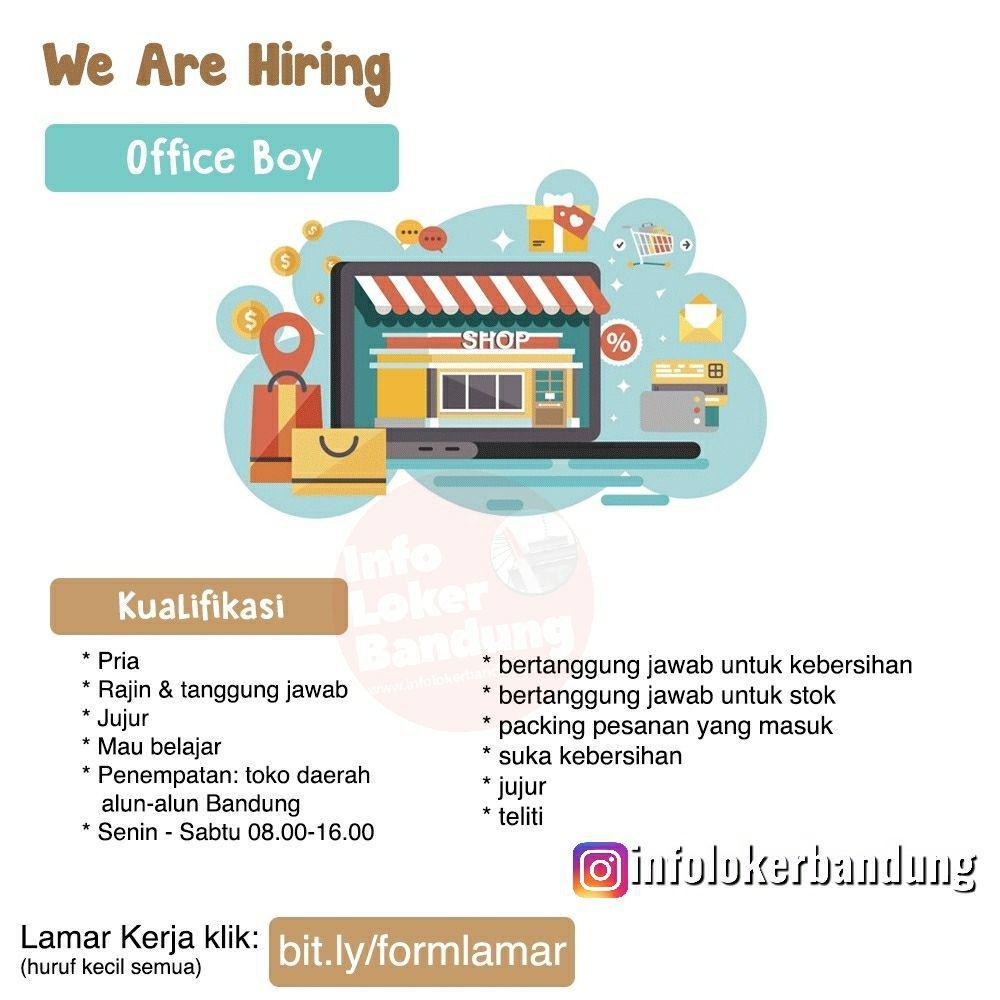 Lowongan Kerja Office Boy Bandung Juni 2019