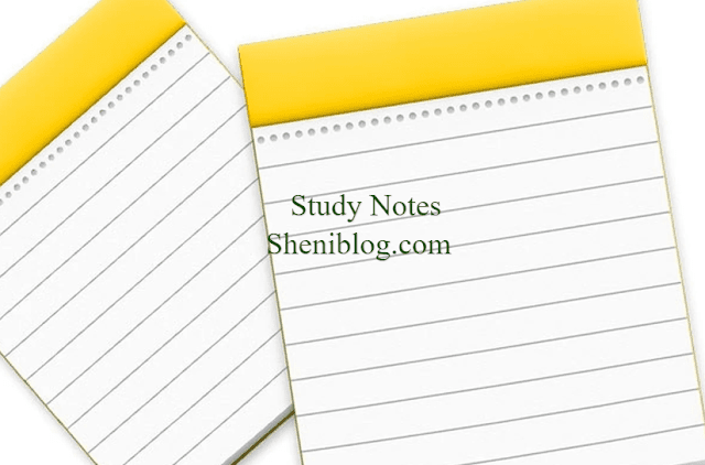 Sheni Blog Chemistry Notes