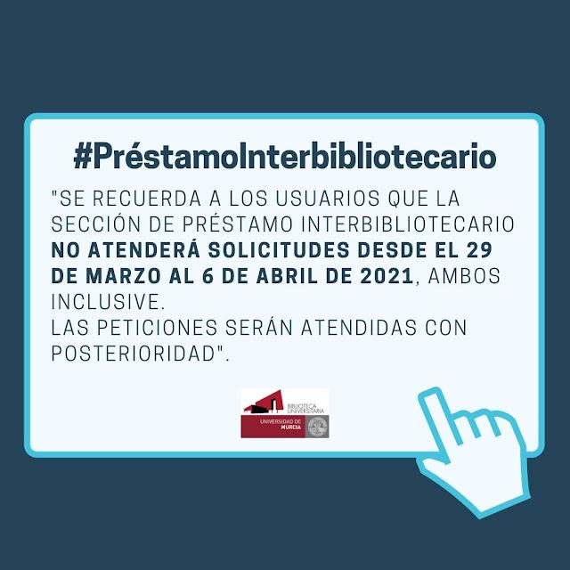 Préstamo interbibliotecario BUMU informa