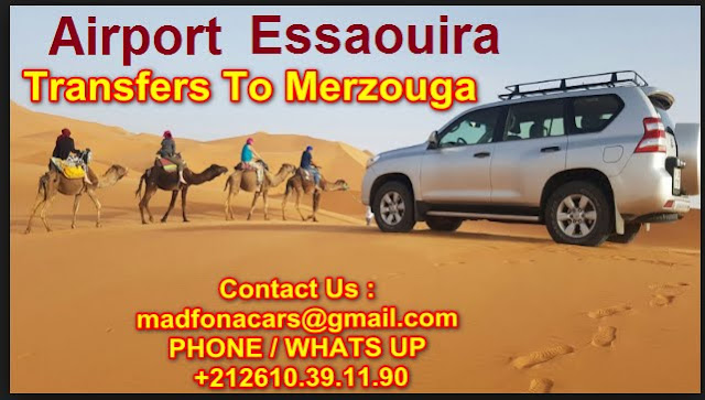 Transfers from Essaouira  airport to Merzouga