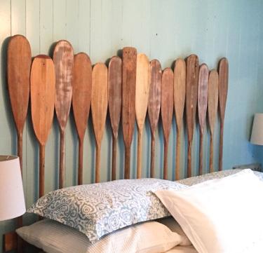 Wood Oar Paddles Headboard Bedroom Nautical