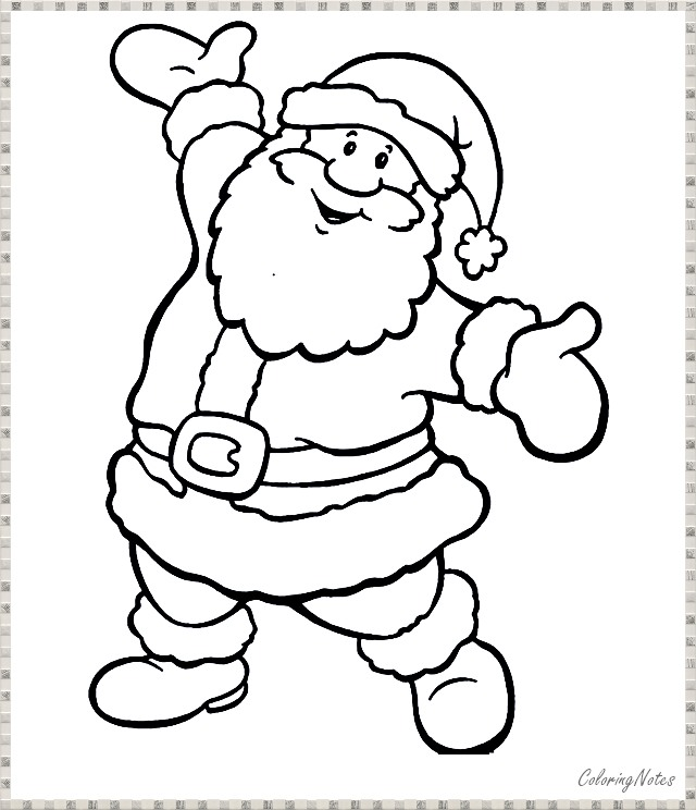 Free printable Santa Claus Coloring Pages | 744x640