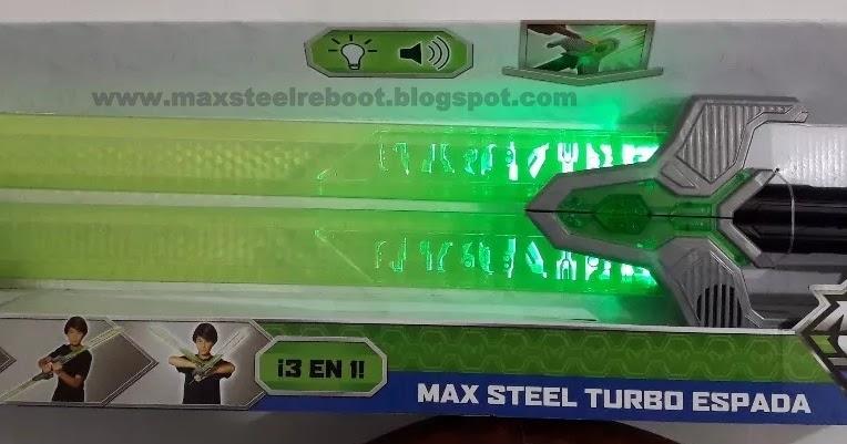 Max Steel Reboot Max Steel Turbo Espada 2017 verde para