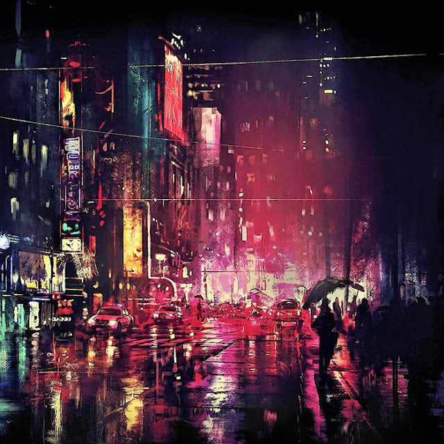 New York Street Night Scene Wallpaper Engine