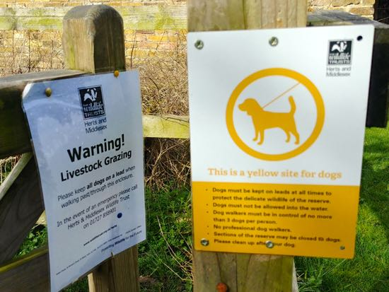 Image: HMWT sign at Gobions Wood.